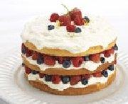 Gâteau éponge aux petits fruits à la crème mascarpone