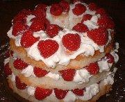 Gâteau framboises et crème