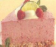 Gâteau glacé à la mousse aux fraises