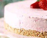 Gâteau glacé margarita aux fraises