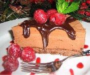 Gâteau-mousse au chocolat et aux noisettes