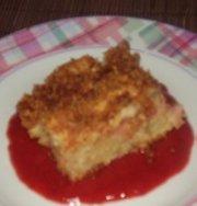 Gâteau pause- café à la rhubarbe