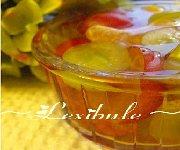 Gelée parfumée aux raisins et clémentines