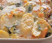Gratin de poireau et patates douces