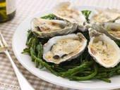 Gratin d'huîtres à la florentine