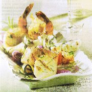 Grillades de poisson et fruits de mer