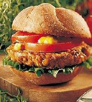 Hamburgers suisses aux lentilles et à l'ail