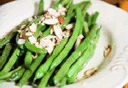 Haricots verts avec amandes grillées