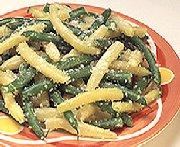 Haricots verts et jaunes au parmesan