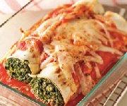 Lasagnes roulées au poulet et feta