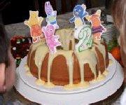 Le gâteau de fête de mes 2 ans