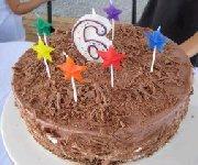 Le gâteau de fête de mes 6 ans