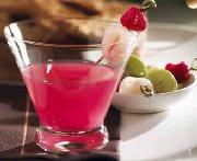 Martini framboise et litchi