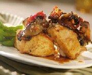 Médaillons de dindon aux champignons portobello et tomates séchées