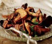 Mélange de champignons rôtis
