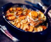 Mélange parmentier avec patates douces cuit au four