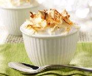 Meringue à la crème de noix de coco