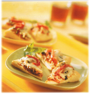 Mini-pizzas au poulet grillé (BBQ)