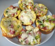Mini quiches au jambon et au fromage