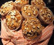 Muffins à la cannelle et gruau