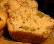 Muffins à la rhubarbe 3
