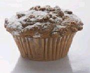 Muffins à la rhubarbe avec garniture aux noix