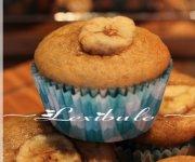 Muffins aux bananes, aux brisures de chocolat