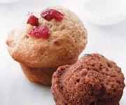 Muffins aux canneberges et graines de lin