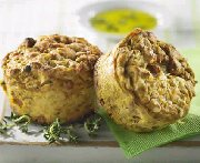 Muffins aux courges, prosciutto et thym