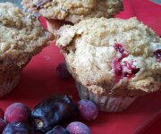 Muffins aux dattes et canneberges garniture strusel