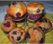 Muffins aux petits fruits 1