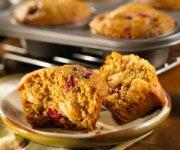 Muffins aux poires et aux canneberges