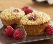 Muffins à l'avoine et aux framboises