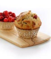 Muffins aux canneberges et compote de pommes