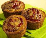Muffins de blé entier aux framboises et à l'orange