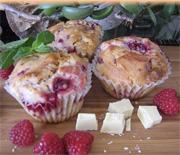 Muffins aux framboises et chocolat blanc 2