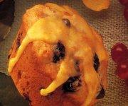 Muffins glacés aux bleuets et à l'orange