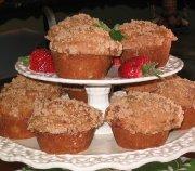 Muffins à la rhubarbe et aux fraises 1