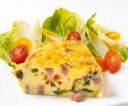 Omelette de jambon à la mode du pays Basque