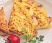 Omelettes au fromage et aux légumes