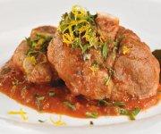 Osso Buco de porc aux oignons caramélisés et à l'orange