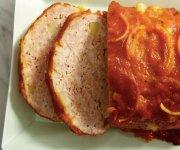 Pain de viande au fromage et aux pommes