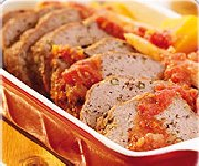 Pain de viande de Veau, sauce tomate citronnée