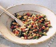 Panaché de haricots à la pancetta