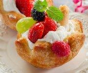Paniers de fraises des champs