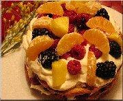 Panettone shortcake