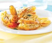 Pâtes aux crevettes épicées et à la citronnelle