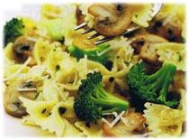 Pâtes aux champignons et au brocoli