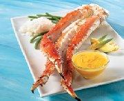 Pattes de crabe « alaska red », sauce fruitée