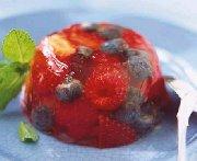Petits fruits en gelée de muscat